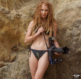 Bikini Goddess with Dreadlocks Shooting Stills & Video with Nikon D800 E