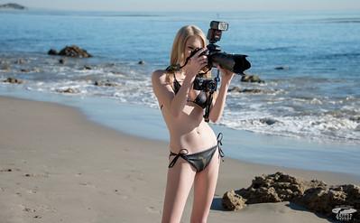 Bikini Model Goddess Shooting Stills & Video with Nikon D800E & Sony NEX 6