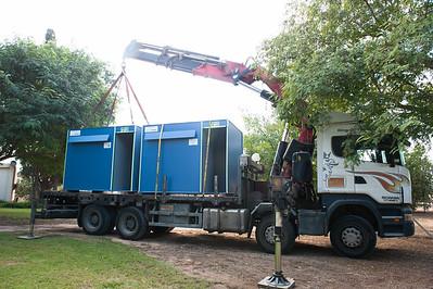 Bikurim steel shelters delivery 10-31-16