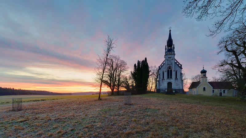Kapelle St. Antonius und St. Anna, Steppberg, Rennertshofen, Oberbayern, Bayern, Deutschland