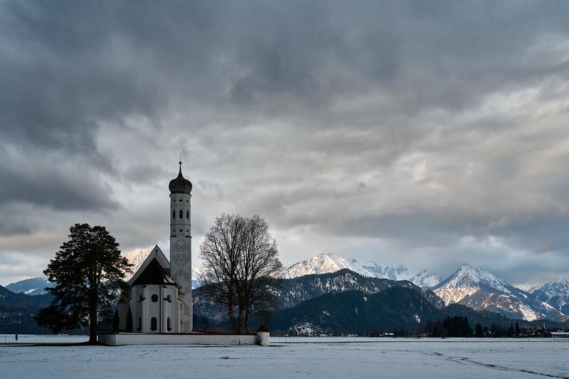 Kirche St. Coloman, Füssen, Oberbayern, Bayern, Deutschland