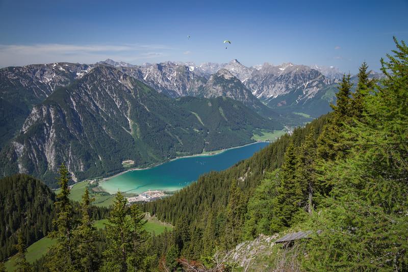 Karwendel-Gebirge, Achensee, vom Rofan aus, Tirol, Österreich