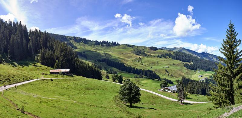 Schwarzeckalmbahn Bergstation, Salzburger Land, Österreich