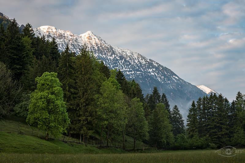 Berge bei Eschenlohe, Oberbayern, Bayern, Deutschland