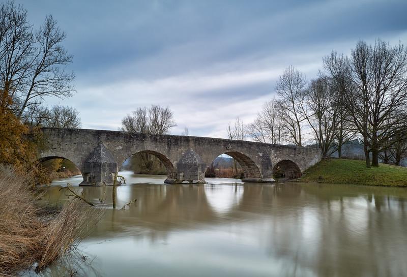 Altmühltalbrücke bei Pfünz, Walting, Altmühltal, Oberbayern, Bayern, Deutschland