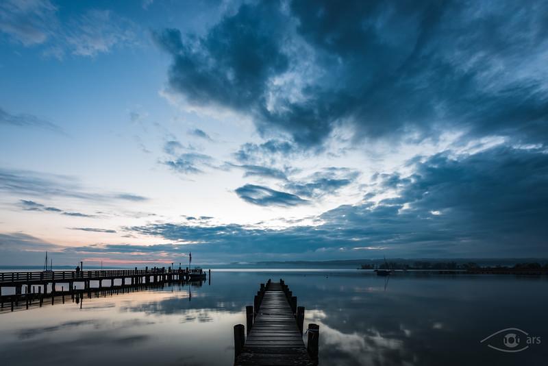 Sonnenaufgang am Ammersee, Dießen, Bayern, Deutschland
