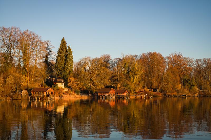 Morgens am Ammersee, Holzhausen, Utting, Oberbayern, Bayern, Deutschland