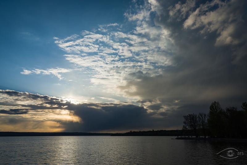 Sonnenuntergang am Ammersee, Herrsching, Bayern, Deutschland