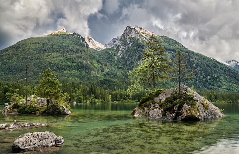Hintersee, Berchtesgaden, Oberbayern, Bayern, Deutschland