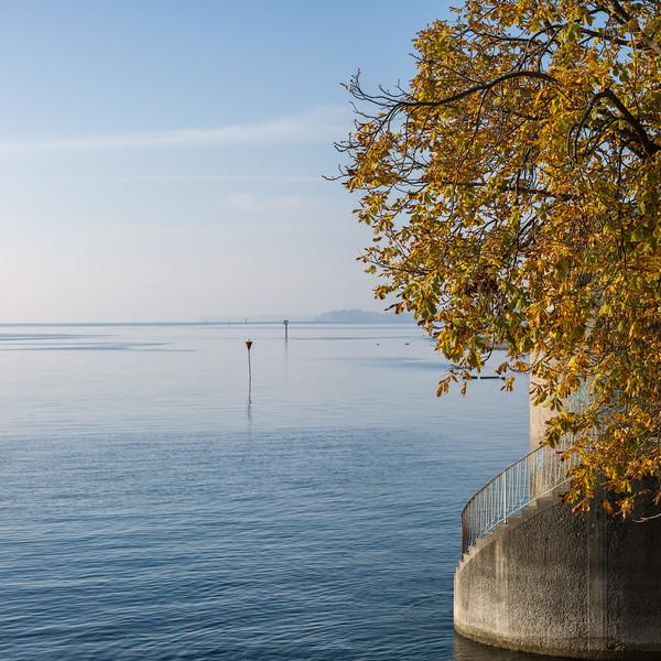Herbst am Bodensee, Lindau, Schwaben, Bayern, Deutschland