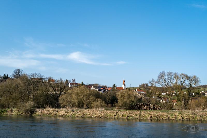 Donau bei Lechsend, Schwaben, Bayern, Deutschland