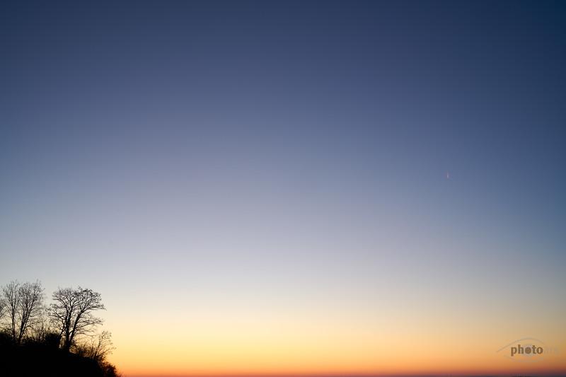 Sonnenaufgang bei Lechsend, Schwaben, Bayern, Deutschland