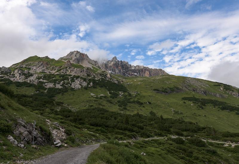 Rote Wand vom Formalinsee aus, Dalaas, Arlberg, Österreich