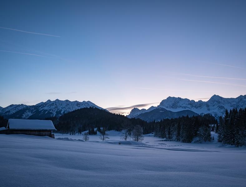 Gerodsee im Winter, Oberbayern, Bayern, Deutschland
