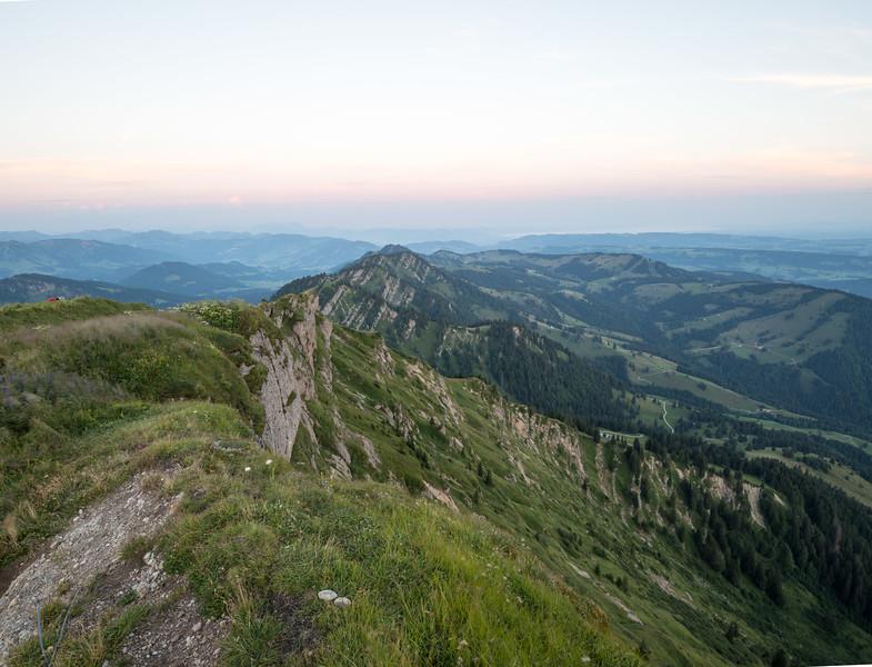 Sonnenaufgang am Hochgrat, Allgäu, Bayern, Deutschland