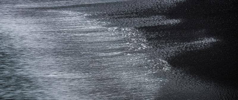 Island, Dyrhólaey, Meer, Wischer, Abstrakt