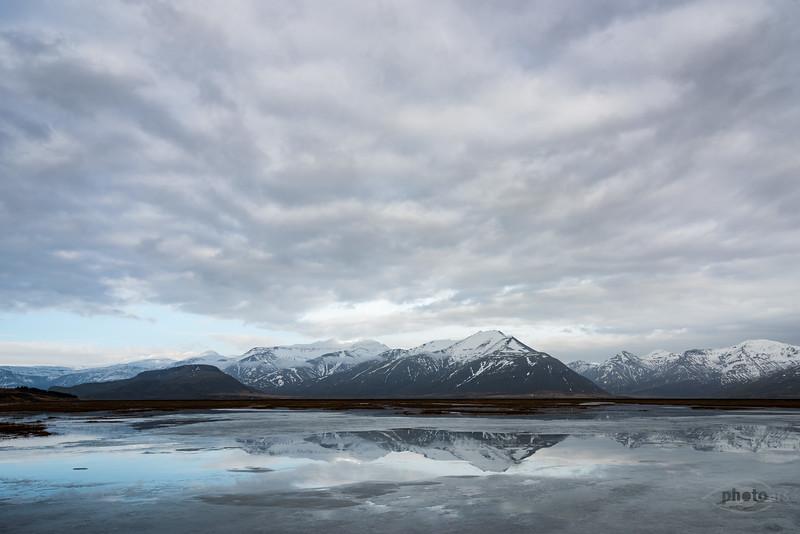 Island, Hoffell, Gletscher, Berge, Wasser, Schnee, Eis