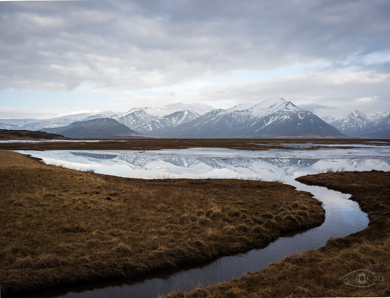 Island, Hoffell, Gletscher, Berge, Wasser, Schnee, Eis, Panorama