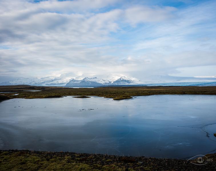 Island, Berge, Gletscher, See, Vatnajökull, Panorama
