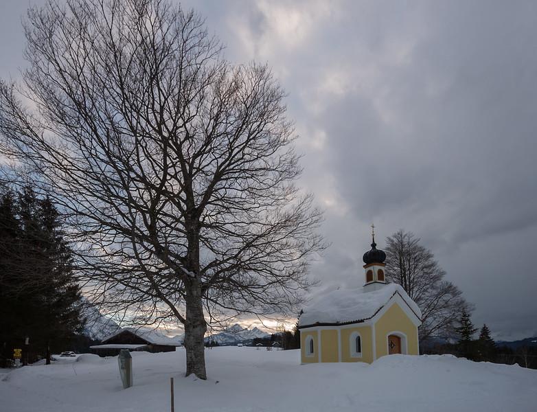 Kapelle Maria Rast, Krün, Oberbayern, Bayern, Deutschland