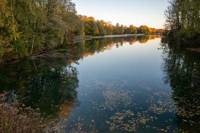 Kuhsee im Herbst, Augsburg, Schwaben, Bayern, Deutschland