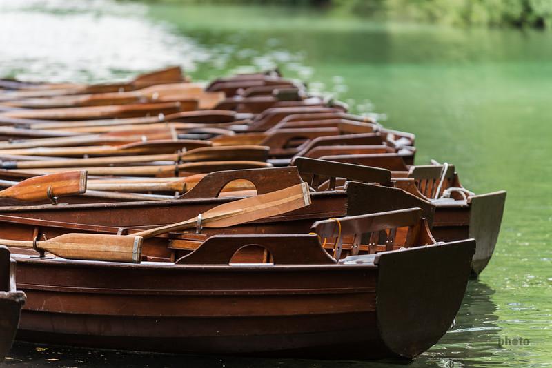 Ruderboote, Plitvicer Seen, Kroatien