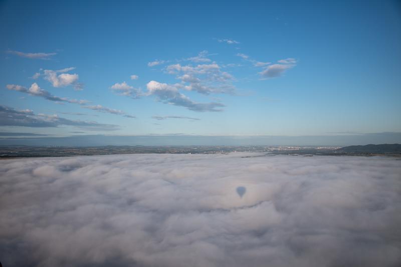 Ballonfahrt in der Sächsischen Schweiz, Hohenstein, Sachsen, Deutschland
