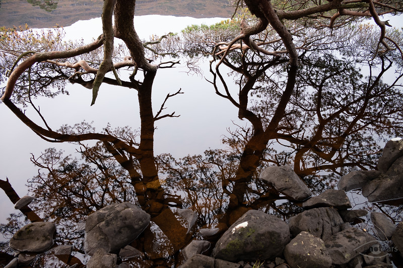 Am Loch Dughail, Highlands, Schottland