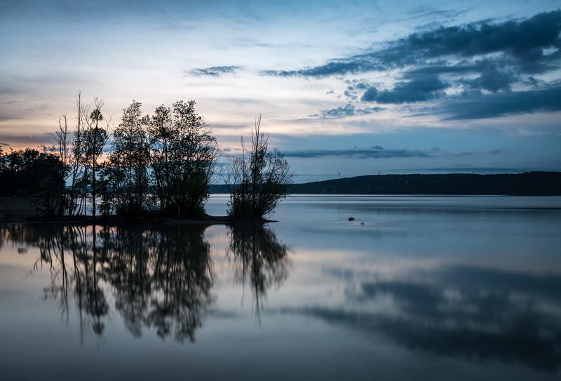 Sonnenaufgang am Starnberger See, Oberbayern, Bayern, Deutschland