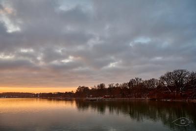 Sonnenaufgang, Wörthsee, Oberbayern, Bayern, Deutschland
