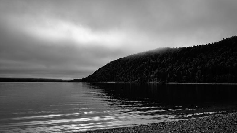 Walchensee am Morgen, Einsiedl, Oberbayern, Bayern, Deutschland