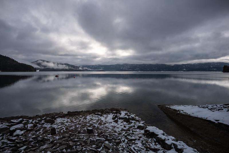 Walchensee im Winter, Oberbayern, Bayern, Deutschland