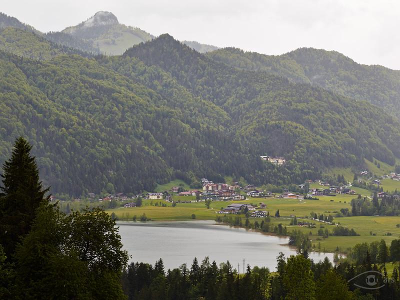 Blick auf den Walchsee, Österreich