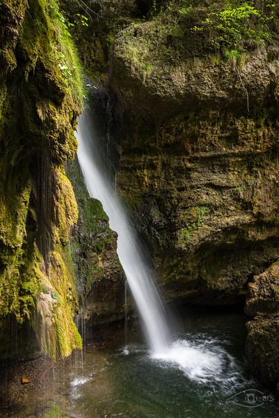 Hinanger Wasserfall, Oberallgäu, Bayern, Deutschland