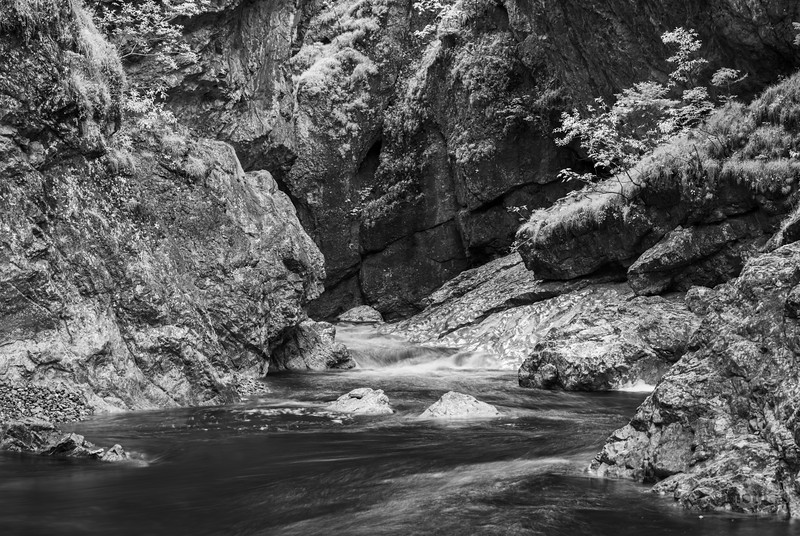 Asamwasserfall der Eschenlaine bei Eschenlohe, Oberbayern, Bayern, Deutschland