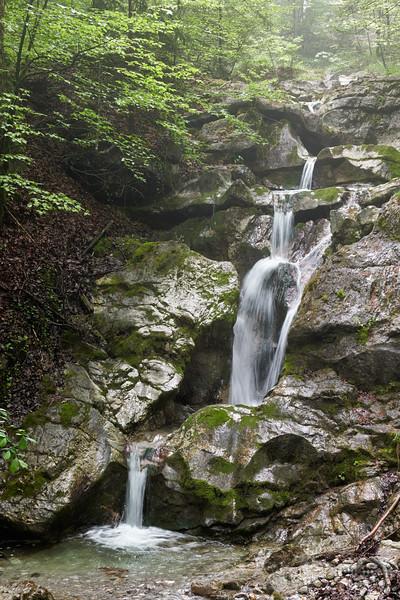 Kesselbach-Wasserfall, Oberbayern, Bayern, Deutschland