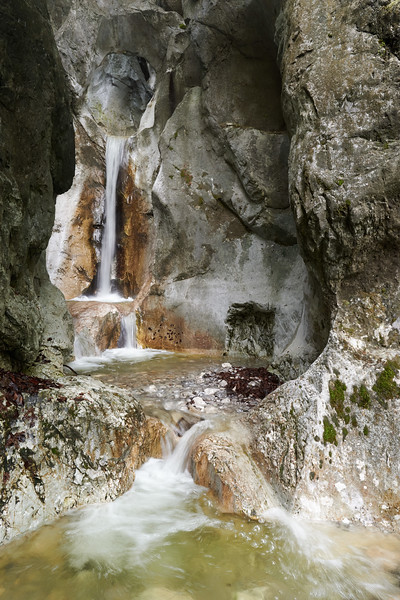 Heckenbach Wasserfall, Kesselbergstr., Oberbayern, Bayern, Deutschland