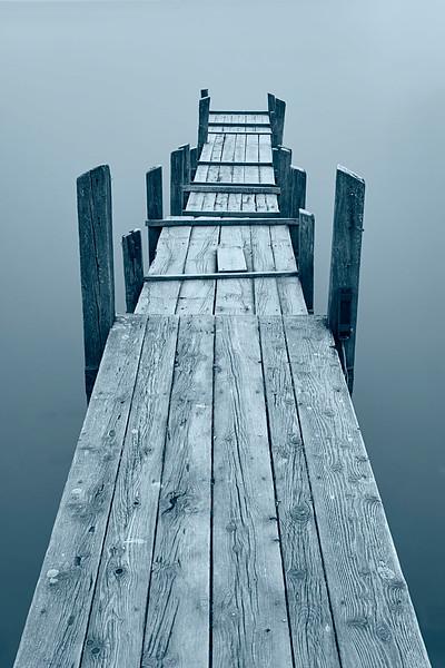 Bootssteg bei Dießen am Ammersee, Oberbayern, Bayern, Deutschland