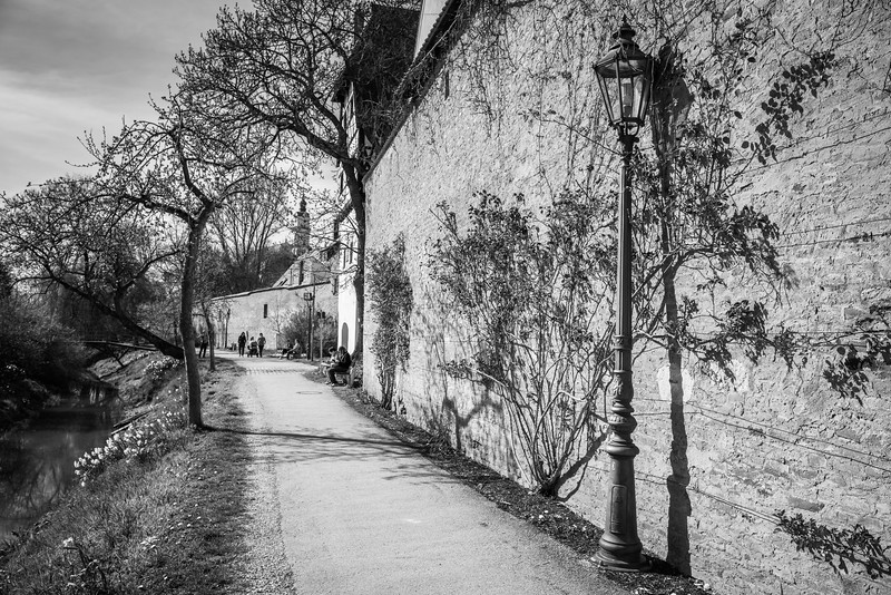 Stadtmauer, Donauwörth, Bayern, Deutschland