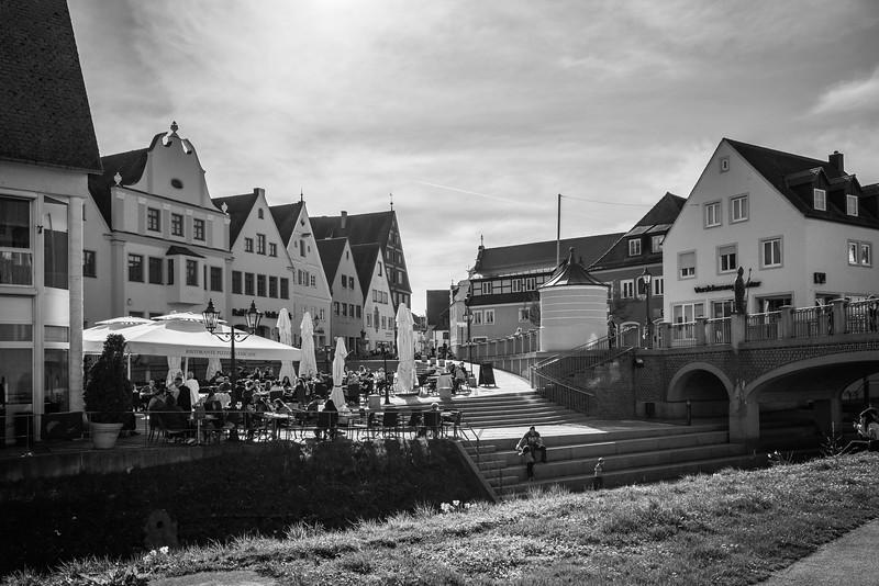 Blick auf die Hindenburgstr., Donauwörth, Bayern, Deutschland