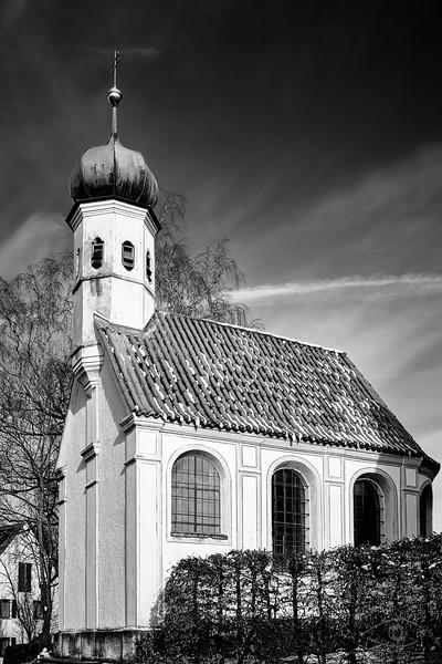 Evangelische Kirche in Mering, Schwaben, Bayern, Deutschland