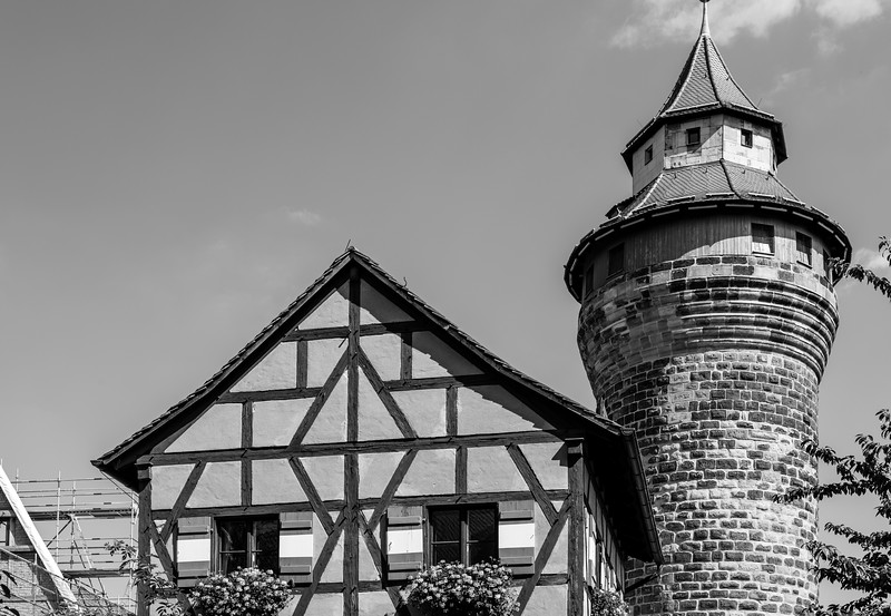 Nahe dem Kaiserschloss, Nürnberg, Mittelfranken, Bayern, Deutschland