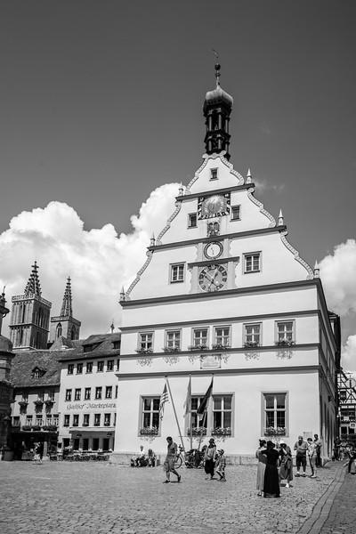 Marktplatz, Rothenburg ob der Tauber, Mittelfranken, Bayern, Deutschland