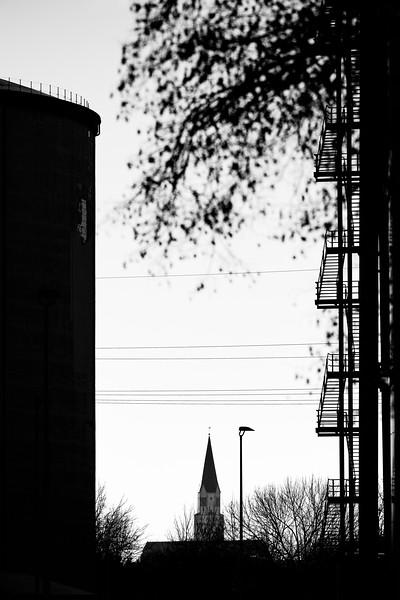 Kirche von Rain am Lech, Südzucker, Schwaben, Bayern, Deutschland