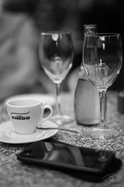 Espresso trinken in Augsburg, Schwaben, Bayern, Deutschland