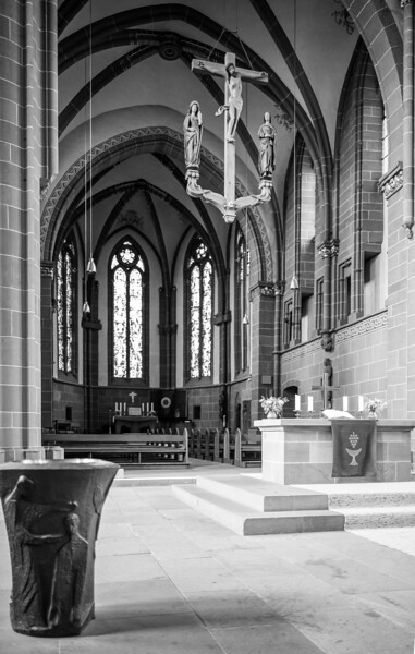 Altar im Dom, Wetzlar, Lahn-Dill-Kreis, Hessen, Deutschland