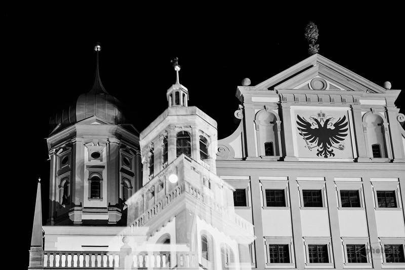 Rathaus und Perlachturm, Augsburg, Schwaben, Bayern, Deutschland