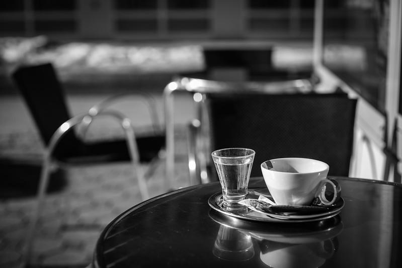 Doppelter Espresso, Bad Wurzach, Baden-Württemberg, Deutschland