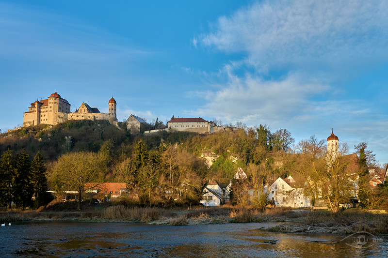 Harburg am Morgen, Donau-Ries, Schwaben, Bayern, Deutschland