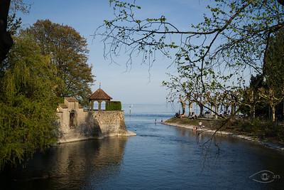 Am Stadtgarten in Konstanz, Blick auf den Bodensee